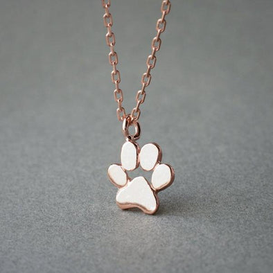 Small Paw Print Necklace