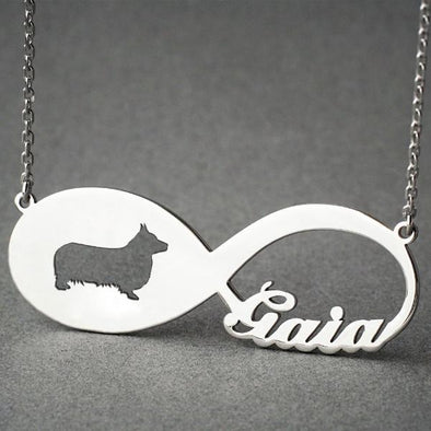 Corgi Infinity Necklace (Personalized)