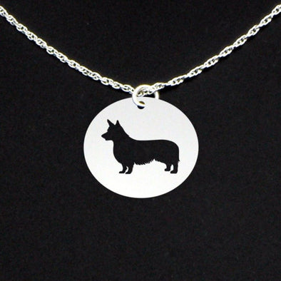 Sterling Silver Pembroke Corgi Cut-out Necklace