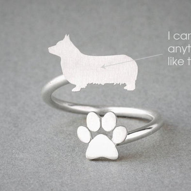 Adjustable Spiral Corgi Ring