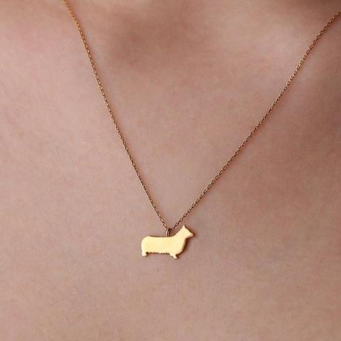 14K Solid Gold Tiny Pembroke Necklace