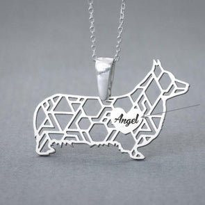 Personalized Corgi Necklace