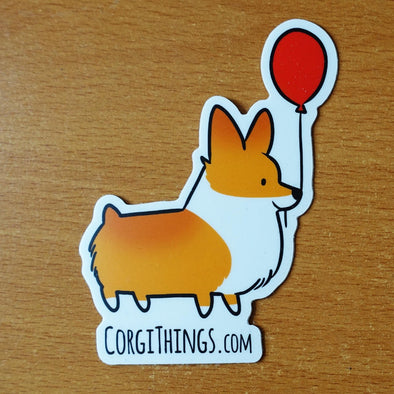 Corgi Things Vinyl Sticker (Red Pembroke)
