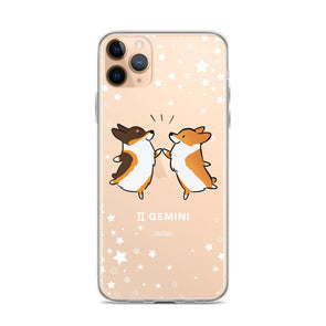 Gemini | Corgi Horoscope iPhone Case