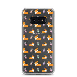 """Bubble Tea Corgis"" Samsung Phone Case"