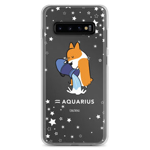 Aquarius | Corgi Horoscope Samsung Phone Case