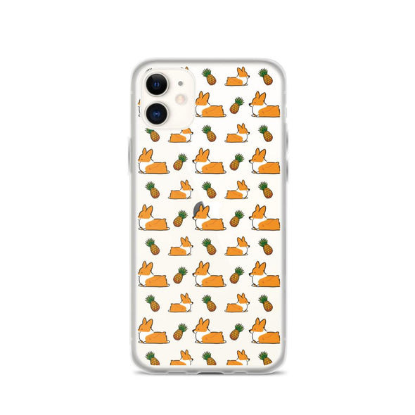 """Pineapple Corgis"" Clear iPhone Case"