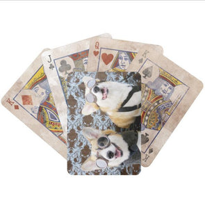 Steampunk Corgis Bicycle Playing Cards