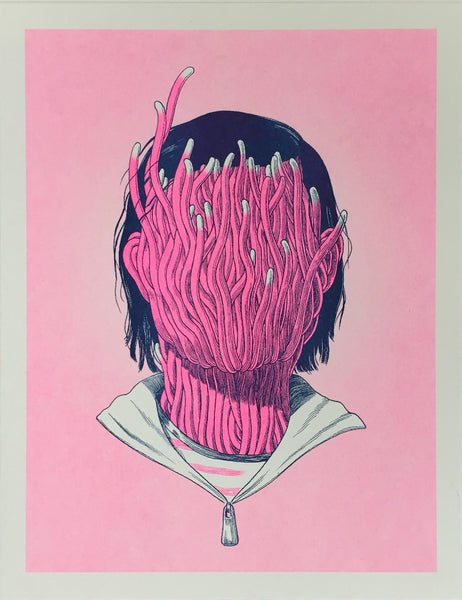 Anuj Shrestha is a Nepali-American artist and illustrator that works with risograph art and interested in exploring themes of immigration and alienation