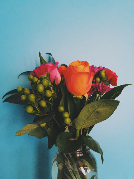 OVERSHARE series photograph by Ottawa Artist Julia Martin of a bouquet of Flowers