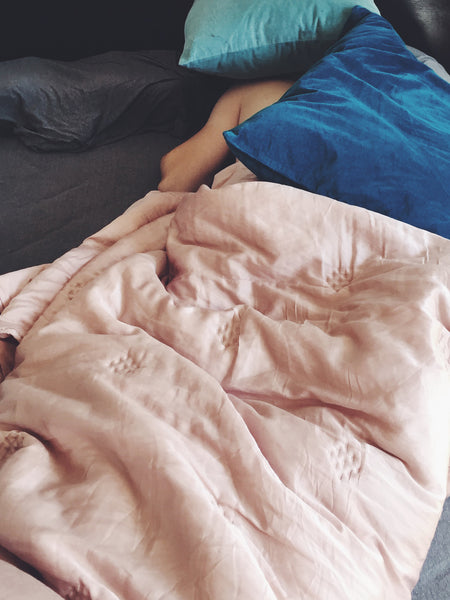 OVERSHARE Series photograph by artist Julia Martin of pink bed sheets
