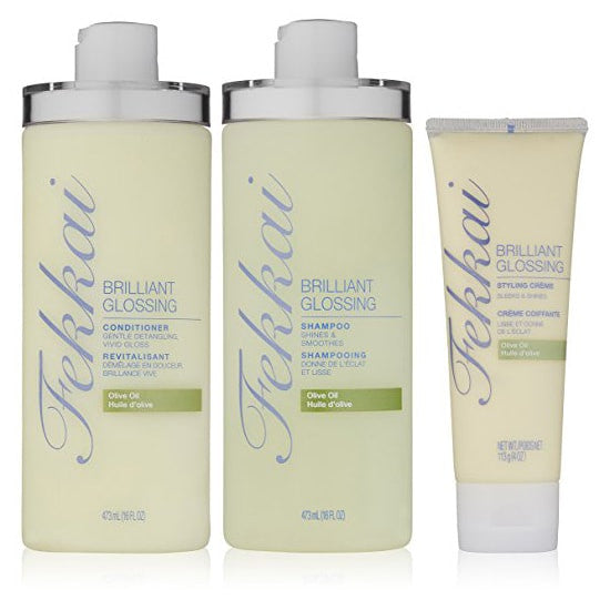 Fekkai Brilliant Glossing Shampoo, Conditioner, and Crème Set