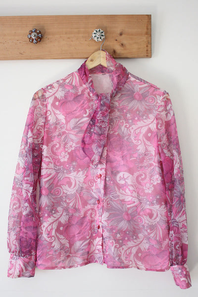 Magenta Magic Pussy Bow Blouse