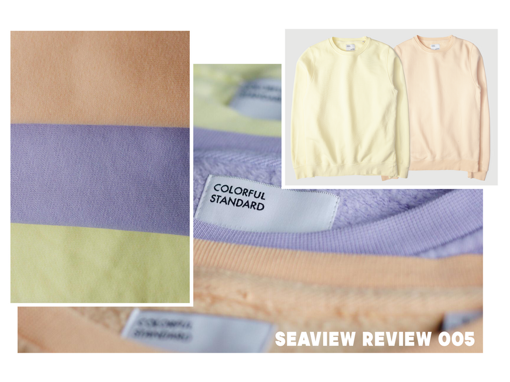 SEAVIEW REVIEW 005- COLORFUL STANDARD CLASSIC ORGANIC CREW SWEATSHIRT