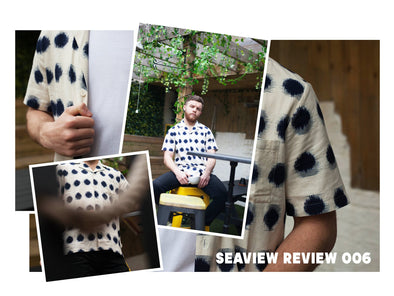 The Seaview Review 006 - Folk soft collar Ikat shirt