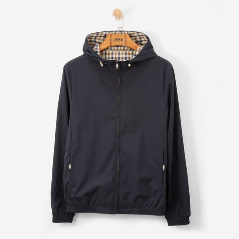 Aquascutum Tyne Hooded Reversible Blouson Navy