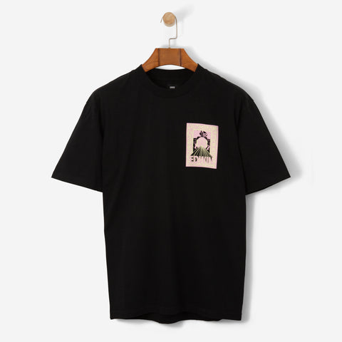Edwin Erotic TS Cotton T Shirt Black Garment Washed
