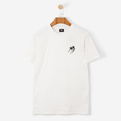 Edwin Oh Hell TS Cotton T Shirt White Garment Washed
