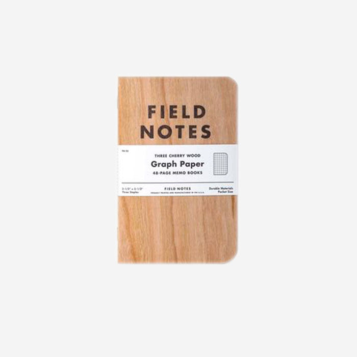 FIELD NOTES Three Cherry Wood Graph Paper 3 - Pack-Field Notes-Grants 1856