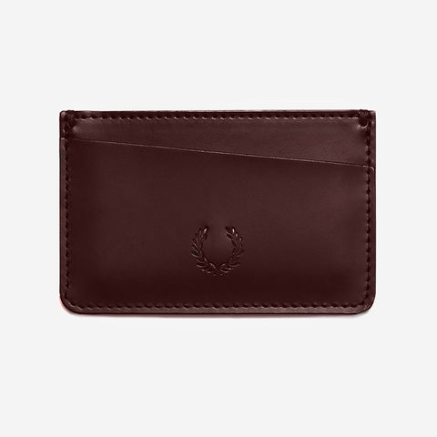 Fred Perry Leather Card Holder Ox Blood