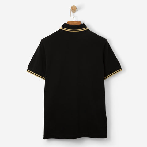 Fred Perry Twin Tipped Polo Shirt Black/ Champagne