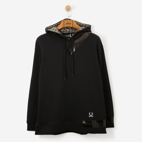 Fred Perry x Raf Simons Tape Detail Hooded Sweatshirt Soft Grey