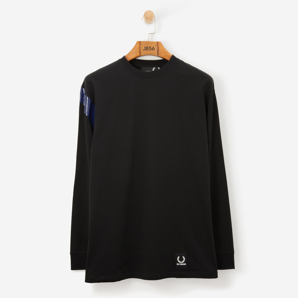 Fred Perry x Raf Simons Tape Detail T Shirt L/S Black