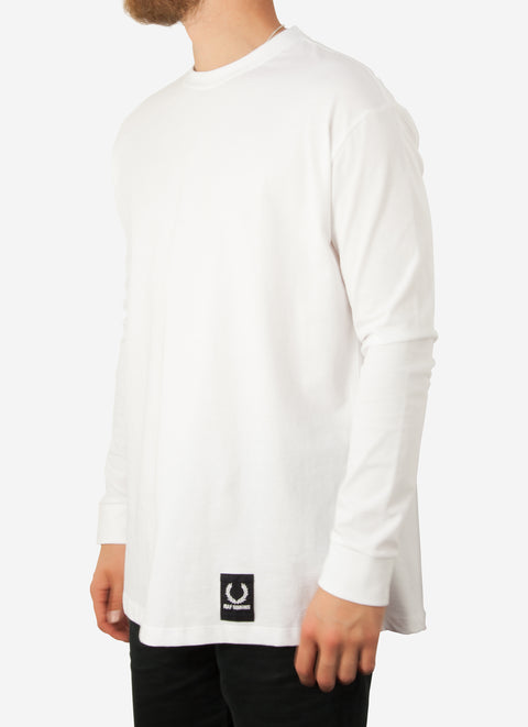 Fred Perry x Raf Simons Tape Detail T Shirt L/S White