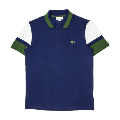 Lacoste Slim Fit Colourblock Stretch Pima Piqué Polo Shirt