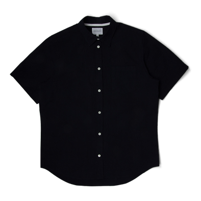 Norse Projects Osvald Seersucker SS Shirt Dark Navy