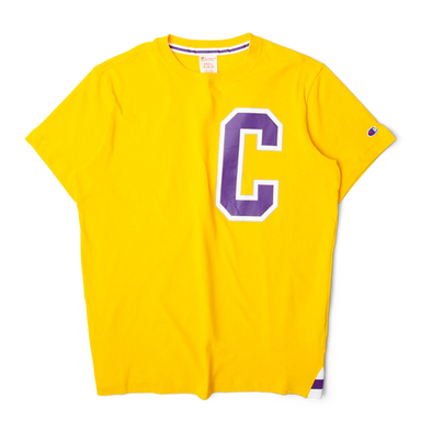 Champion 'C' Logo Crewneck Tee Yellow/Purple