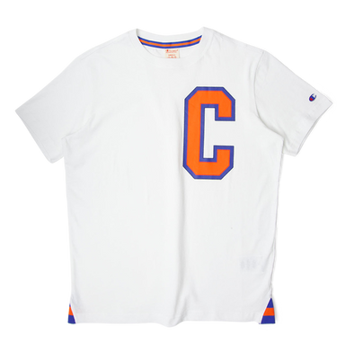 Champion 'C' Logo Crewneck Tee White/Orange