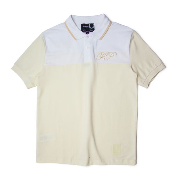 Fred Perry Raf Simons Embroidered Initial Pique Shirt Polar
