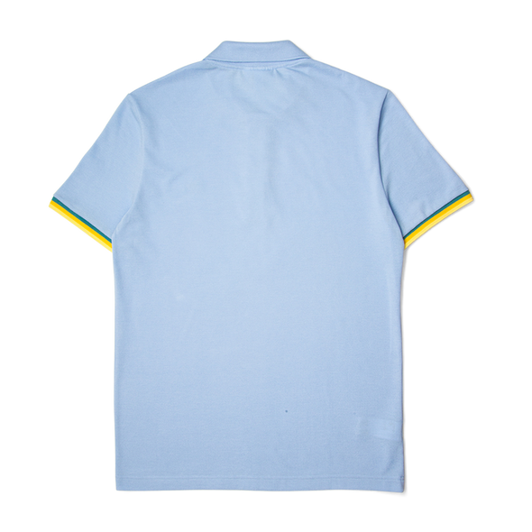 Lacoste Slim Fit Piped Sleeves Petit Piqué Polo Shirt Baby Blue
