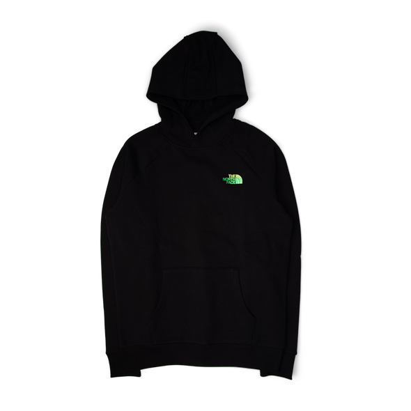 The North Face Raglan Red Box Hoodie Black/Iridescent