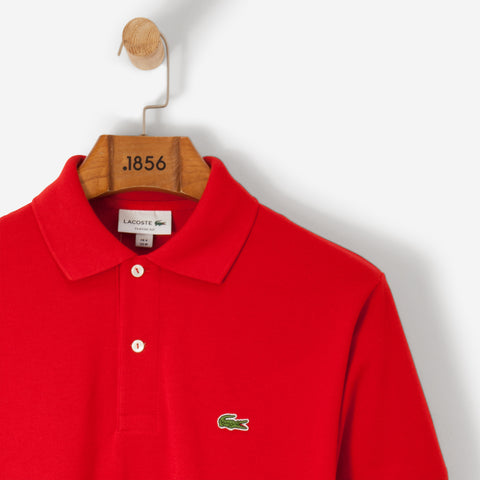 Lacoste Classic Basic Logo Polo Shirt Red