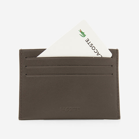 Lacoste Credit Card Holder Dark Brown