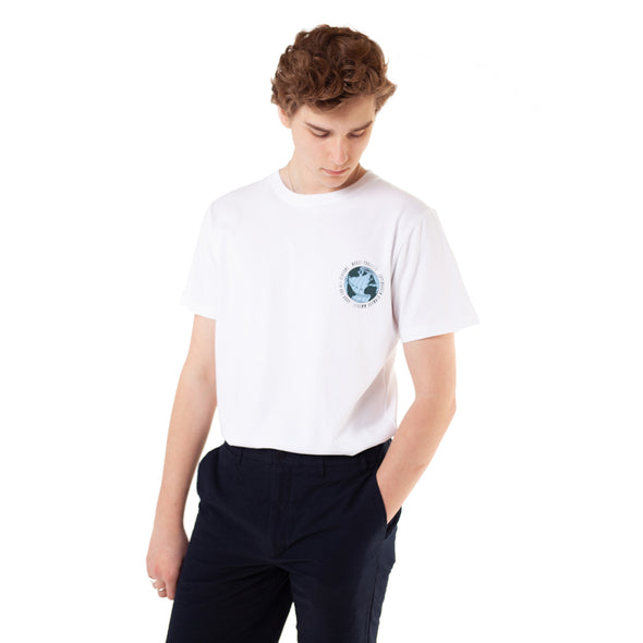 Norse Projects Niels Globe White