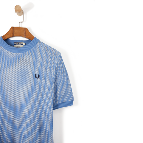 Fred Perry Reissues Two Colour Knit Crew Neck Ice