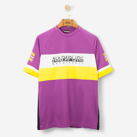 Napapijri Sala T Shirt Purple/Yellow