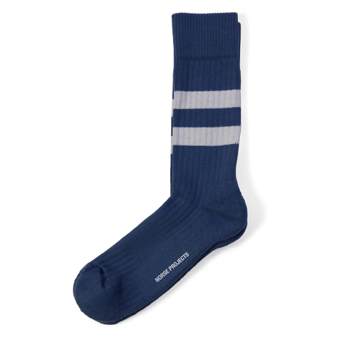 Norse Projects Bjarki Cotton Sport Socks Annodized Blue