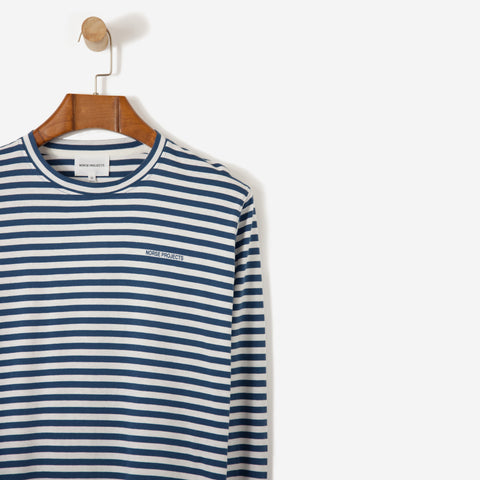 Norse Projects James Logo Stripe Blue