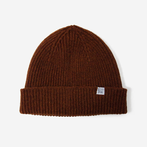 Norse Projects Lambswool Beanie Zircon Brown
