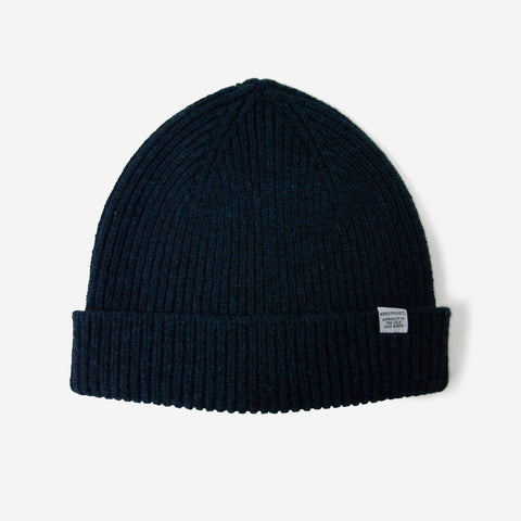 Norse Projects Lambswool Beanie Dark Navy