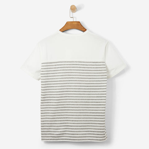 Nanamica Coolmax Jersey Shoulder Panel Tee Heather Grey