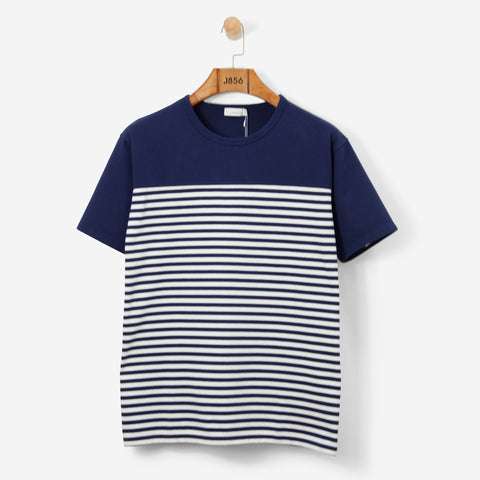 Nanamica Coolmax Jersey Shoulder Panel Tee Navy
