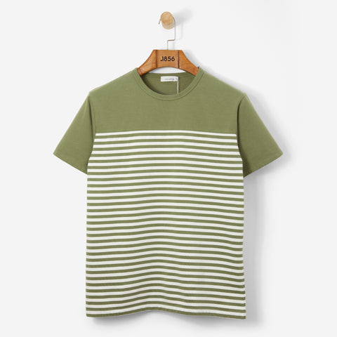 Nanamica Coolmax Jersey Shoulder Panel Tee Khaki