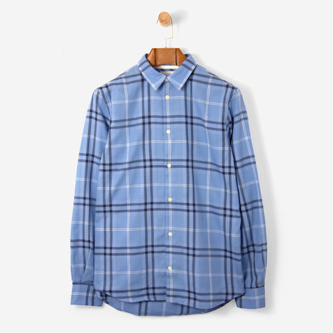 Norse Projects Hans Classic Check Shirt Luminous Blue