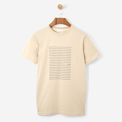 Norse Projects Niels Stripe Screen Logo Sand