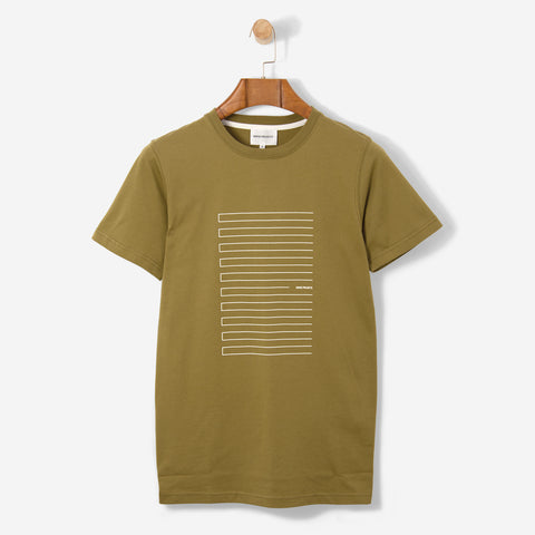 Norse Projects Niels Stripe Screen Logo Warm Brass